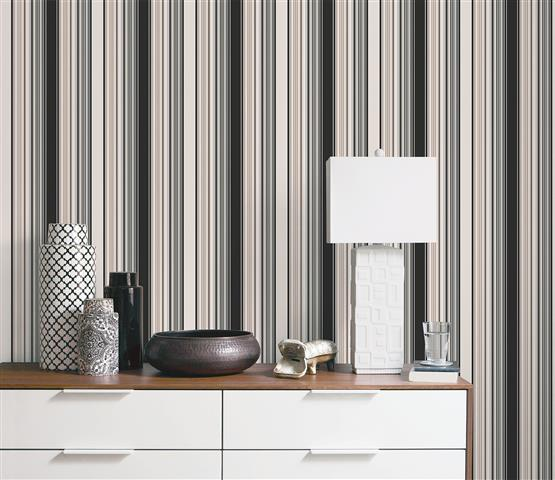 Neutrals and Striped Wallpapers