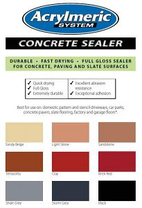 Colour Pack Concentrate 1lt for Concrete Sealer 20lt